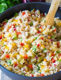 Caribbean Confetti Rice | ASpicyPerspective.com