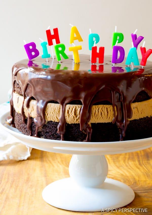 Chocolate Caramel Ice Cream Sandwich Cake Recipe | ASpicyPerspective.com