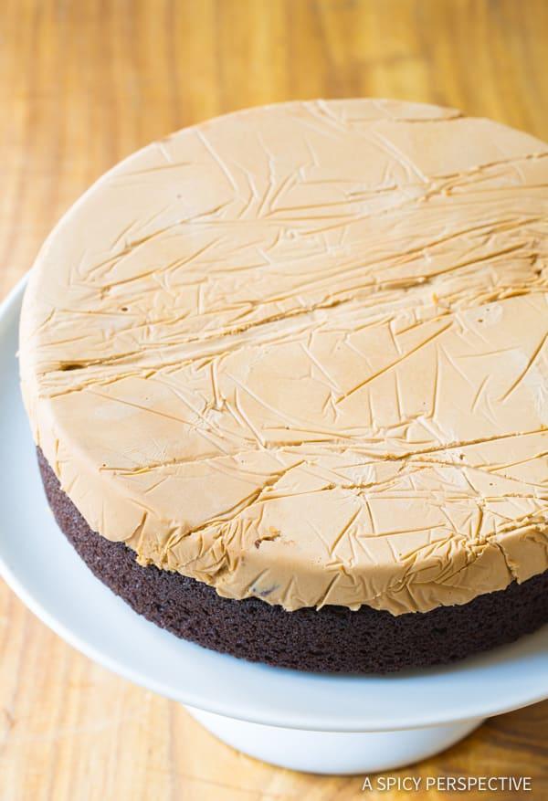 How To: Chocolate Caramel Ice Cream Sandwich Cake Recipe | ASpicyPerspective.com