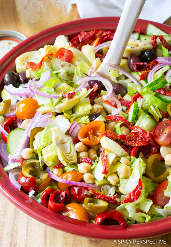 Must-Try! My Big Fat Greek Salad Recipe | ASpicyPerspective.com