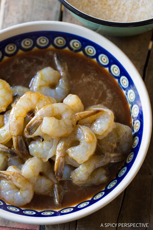 Making Paleo Coconut Shrimp Recipe (Pina Colada Shrimp & Gluten Free!) | ASpicyPerspective.com