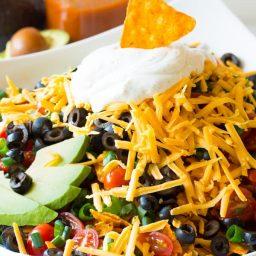 All-American The Ultimate Dorito Taco Salad Recipe | ASpicyPerspective.com