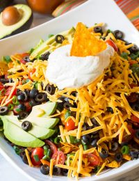 Crazy over this - The Ultimate Dorito Taco Salad Recipe | ASpicyPerspective.com