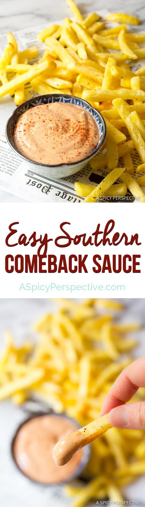 Easy Southern Comeback Sauce Recipe | ASpicyPerspective.com