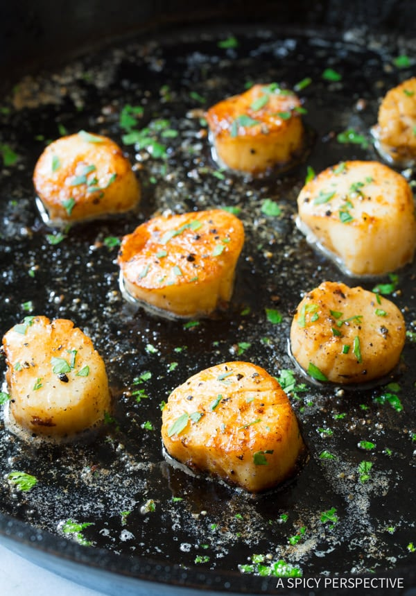 Scallops #ASpicyPerspective #Scallops #Easy #Fish #PanSearedScallops #HowtoCookScallops #MainDish