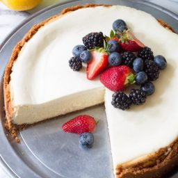 Limoncello Cheesecake with Biscoff Crust | ASpicyPerspective.com
