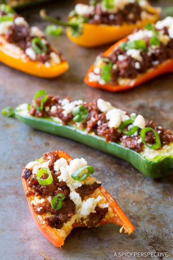 Spicy Loaded Stuffed Jalapeños | ASpicyPerspective.com