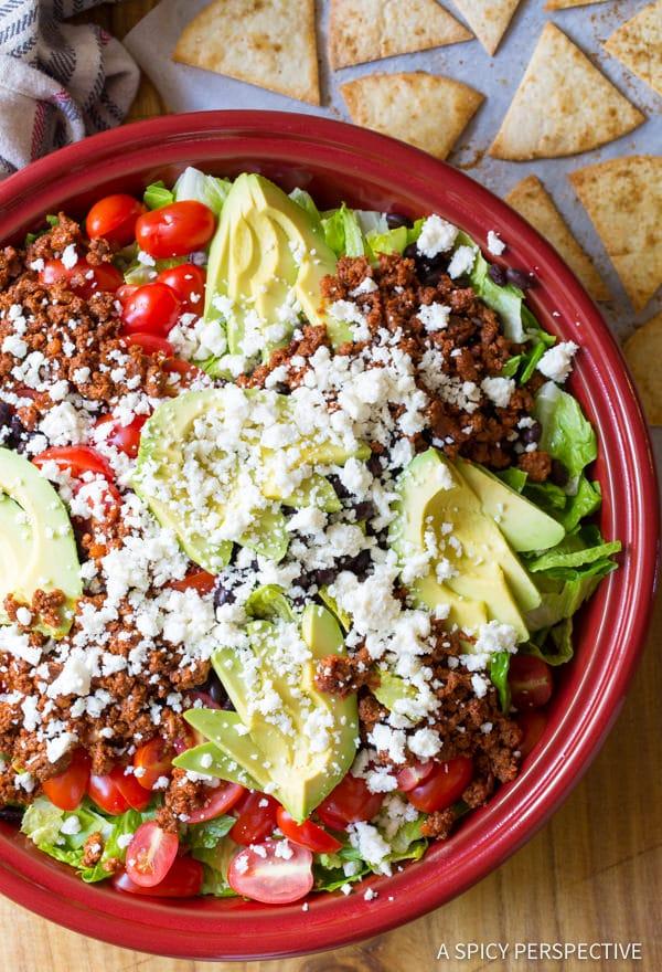 Amazing Mexican Breakfast Salad | ASpicyPerspective.com