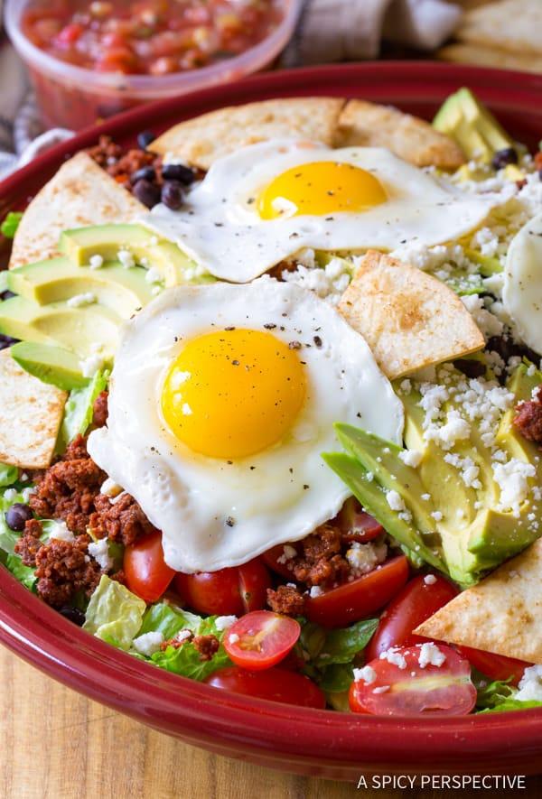 Crunchy Mexican Breakfast Salad | ASpicyPerspective.com