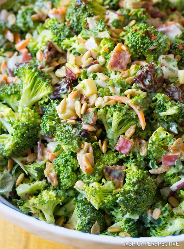 Love this! The Best Broccoli Salad Recipe   ASpicyPerspective.com