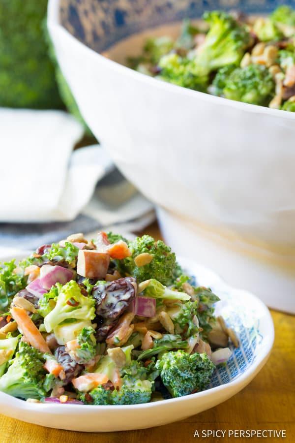 Truly The Best Broccoli Salad Recipe   ASpicyPerspective.com