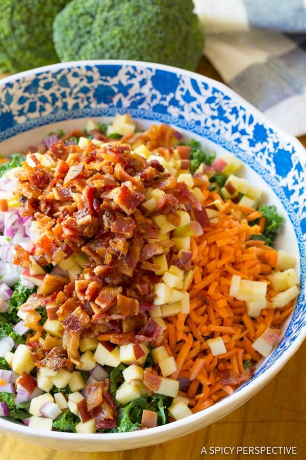 How to Make The Best Broccoli Salad Recipe   ASpicyPerspective.com
