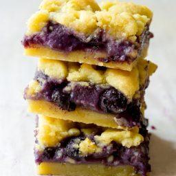 Fresh Gooey Blueberry Bars   ASpicyPerspective.com