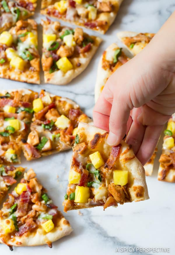 Awesome Grilled Chicken Teriyaki Pizza | ASpicyPerspective.com