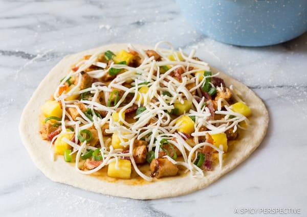 Make the Best Grilled Chicken Teriyaki Pizza | ASpicyPerspective.com