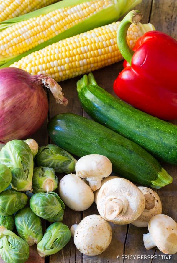 Summer Vegetables #ASpicyPerspective #Kabobs #Vegetables #GrilledVegetables #GrilledVegetableKabobs #SummerVegetable #Summer #HowtoGrillVegetables #Fajita #FajitaButter #Skewers #SideDish #VegetableSkewers