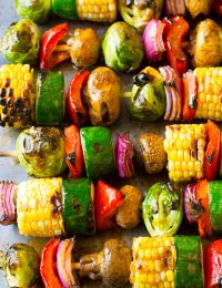 Grilled Fajita Vegetable Skewers | ASpicyPerspective.com