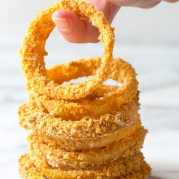 Zesty Baked Onion Rings Recipe | ASpicyPerspective.com