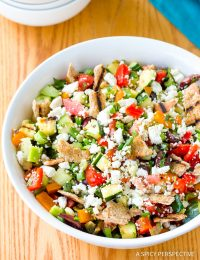 Chunky Grilled Fattoush Salad Recipe #healthy #summer
