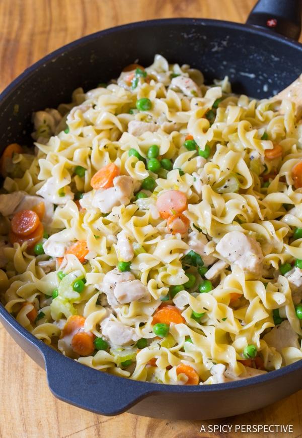 One-Pot Chicken Noodle Casserole | ASpicyPerspective.com
