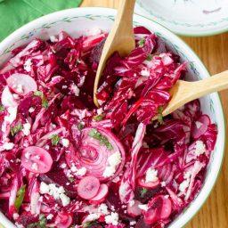 Roasted Beet and Radicchio Salad