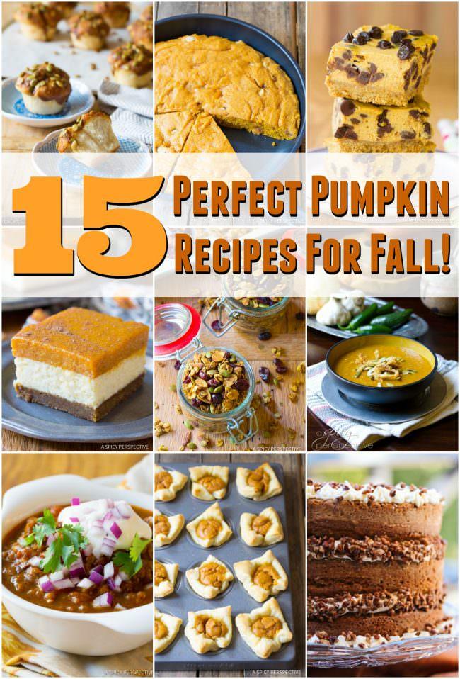 15 Perfect Pumpkin Recipes for Fall | ASpicyPerspective.com