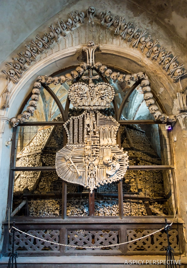 Sedlec Ossuary - Amazing Day Trips from Prague | ASpicyPerspective.com #travel #europe