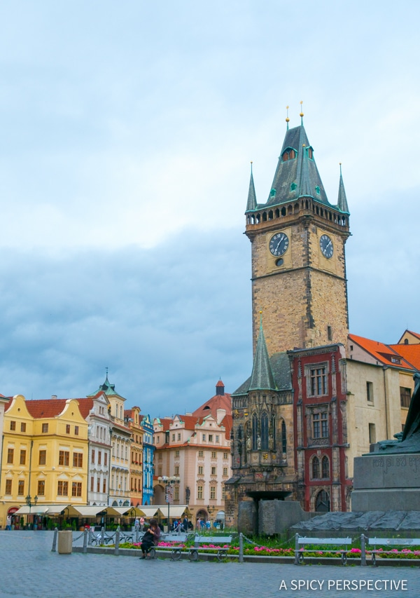 Old Town Square - Top 10 Reasons to Visit Prague, Czech Republic | ASpicyPerspective.com #travel #europe