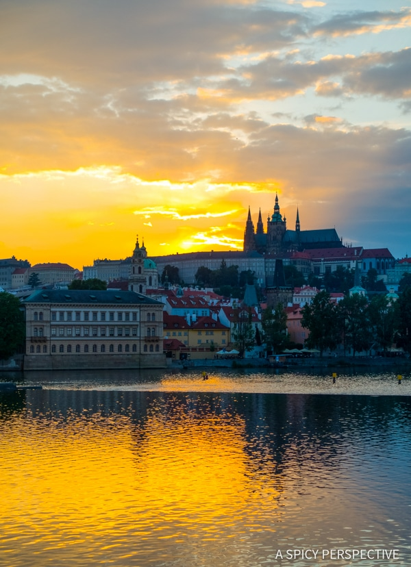 Castle Sunsets - Top 10 Reasons to Visit Prague, Czech Republic | ASpicyPerspective.com #travel #europe