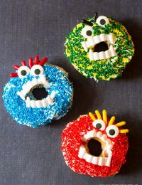 Spooky Halloween Monster Donuts   ASpicyPerspective.com