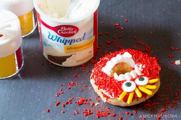 Step 5: Halloween Monster Donuts | ASpicyPerspective.com
