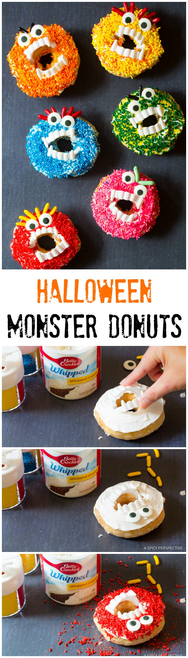 Kid-Friendly Halloween Monster Donuts | ASpicyPerspective.com