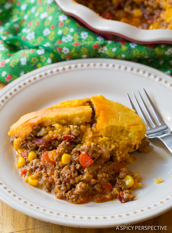 Love this Perfect Tamale Pie Recipe - Easy to Make and Gluten Free! | ASpicyPerspective.com