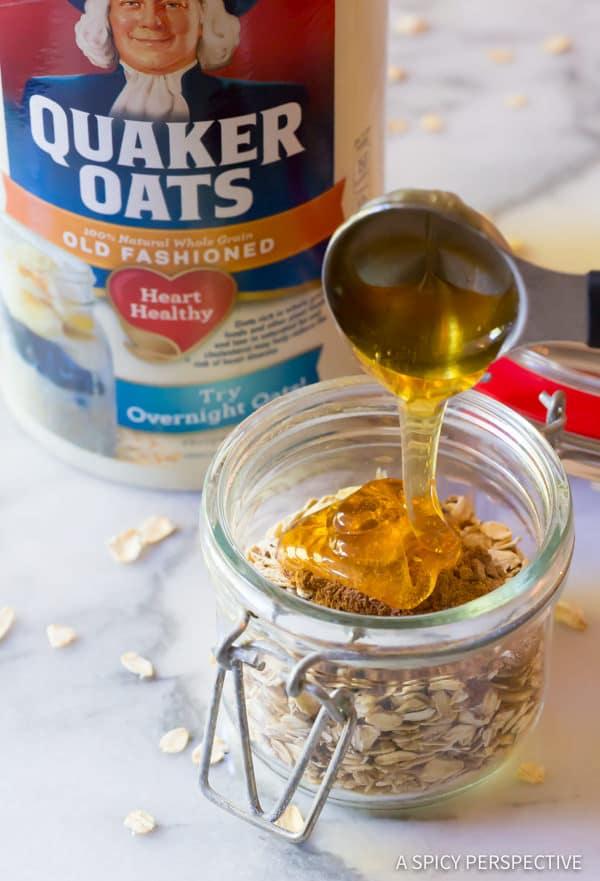 How To: Pumpkin Spice Latte Overnight Oatmeal Recipe   ASpicyPerspective.com