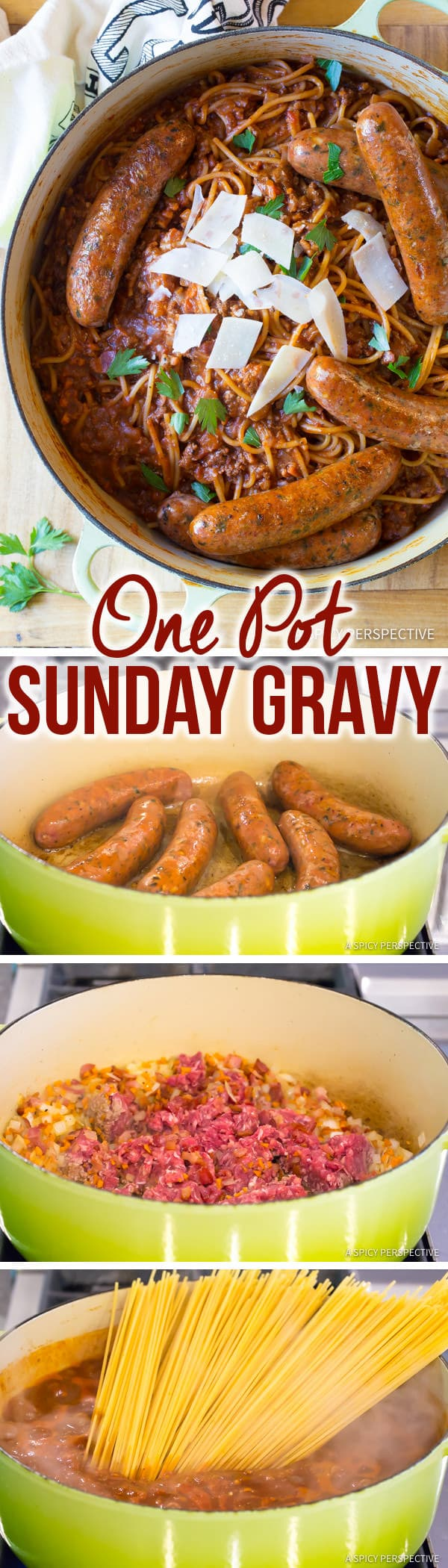 Perfect One Pot Sunday Gravy (In Less Than An Hour!) | ASpicyPerspective.com