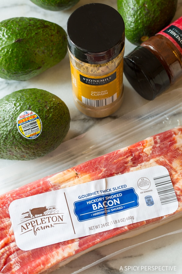 Ingredients - Low Carb Bacon Wrapped Avocado Slices!