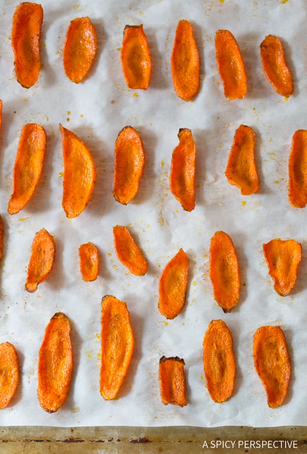 Carrot Chips #ASpicyPerspective #healthy