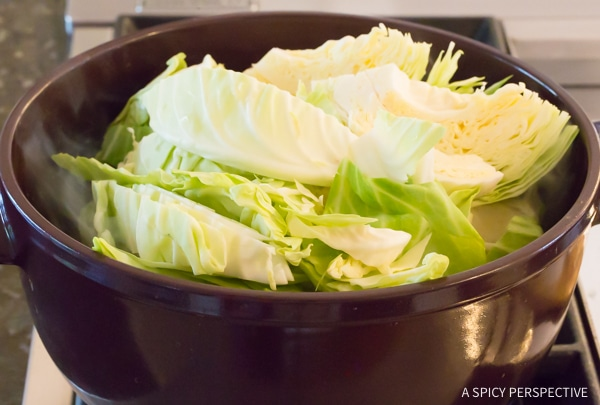 How to Make Irish Cabbage and Bacon Recipe for Saint Patrick's Day! #ASpicyPerspective #IrishCabbageBacon #Irish #Cabbage #Bacon #StPatricksDay #Dinner #SideDish