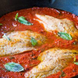 Low Carb White Fish Pomodoro #healthy #paleo