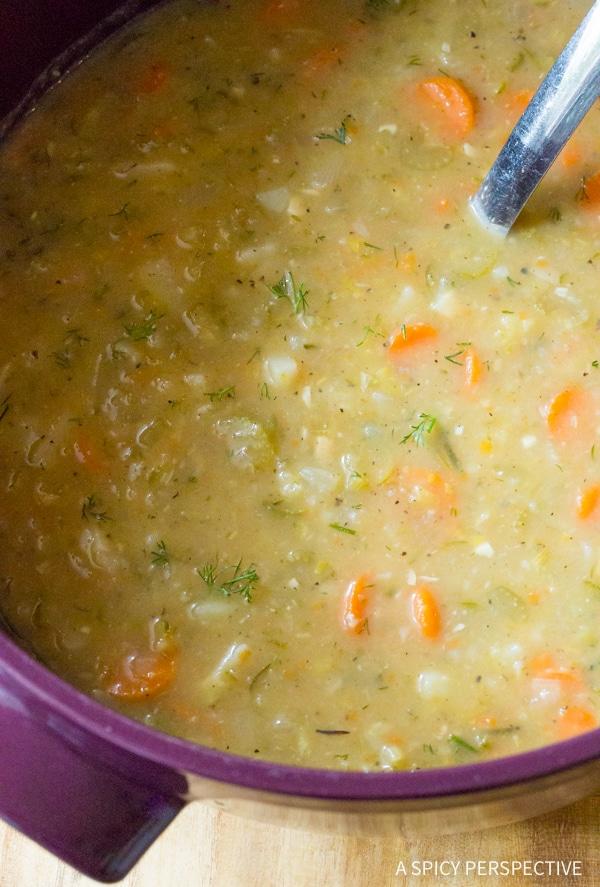 Classic Polish Dill Pickle Soup (AKA Polish Potato Soup)