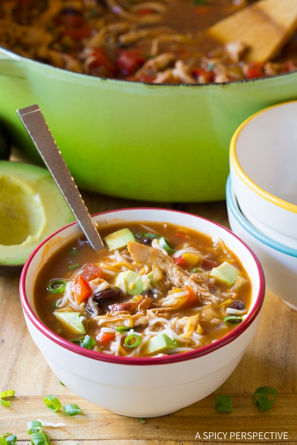 Chicken Fajita Soup #ASpicyPerspective