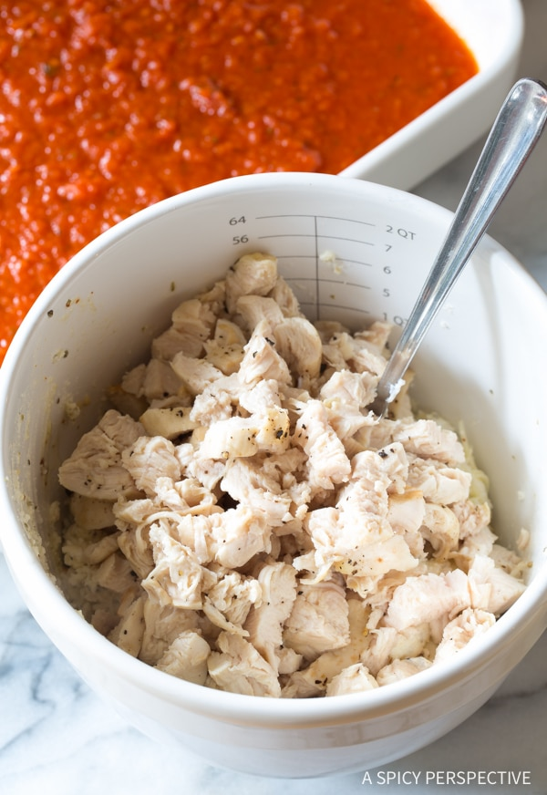 How to Make Chicken Parmesan Stuffed Shells