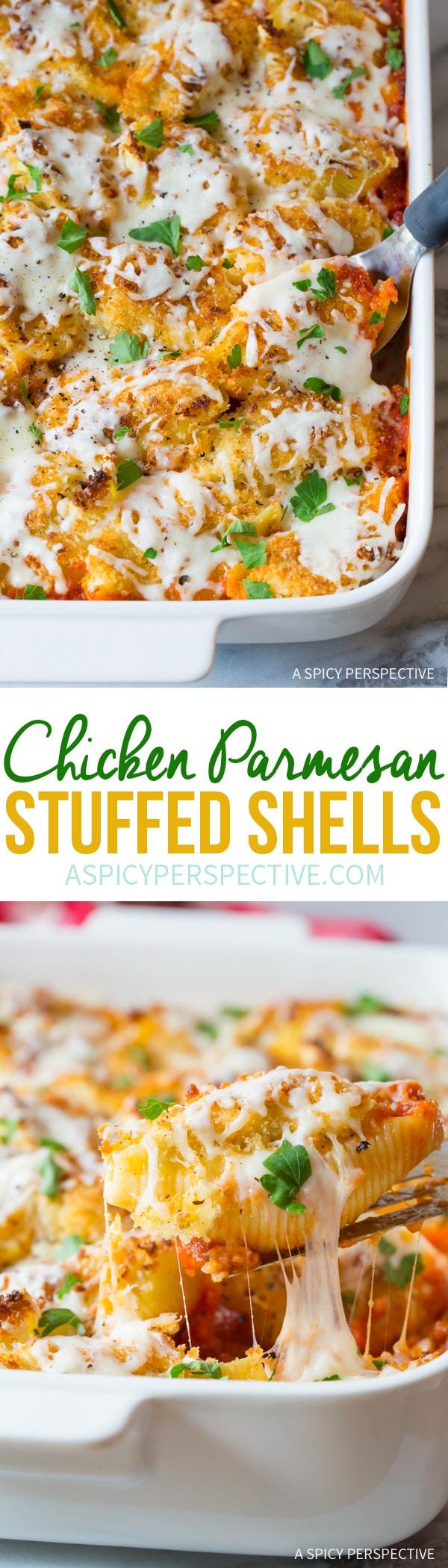 Perfect Chicken Parmesan Stuffed Shells Recipe
