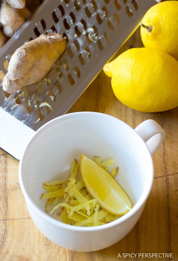 Perfect Lemon Ginger Detox Tea Recipe
