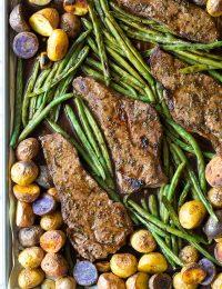 Fabulous Balsamic Steak Sheet Pan Dinner