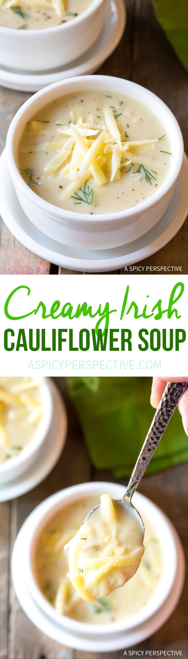 Irresistible Irish Creamy Cauliflower Soup Recipe for Saint Patrick's Day!