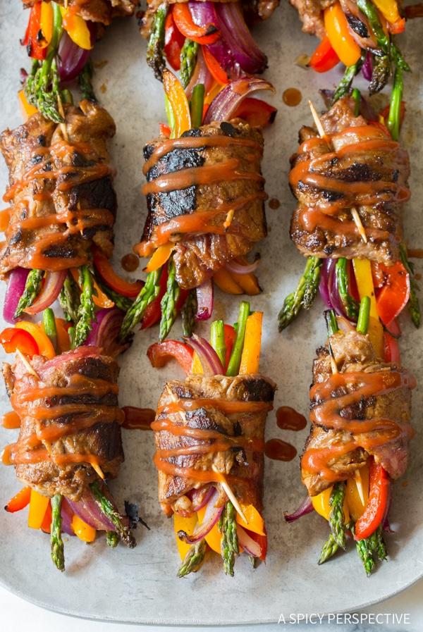 Awesome Low Carb Steak Fajita Roll-Ups #healthy