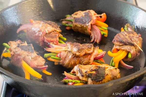 Seared Low Carb Steak Fajita Roll-Ups #healthy