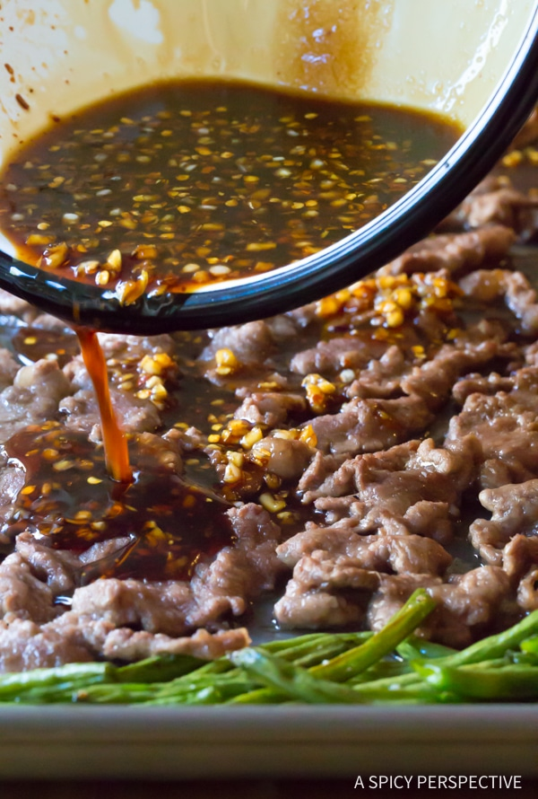 Sizzling Sheet Pan Mongolian Beef Recipe