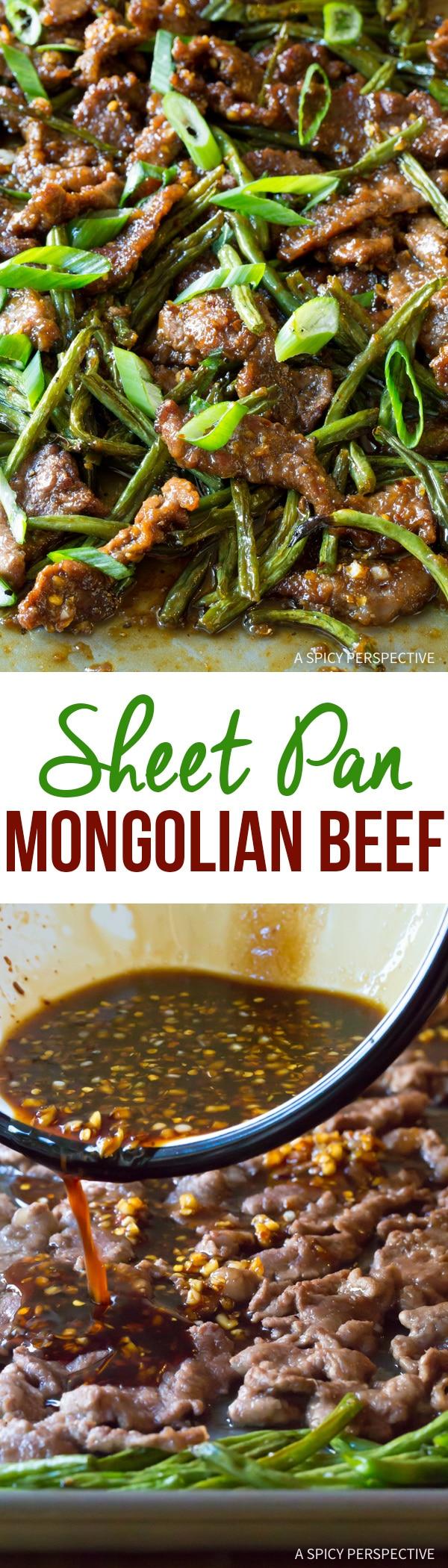 Spicy Sheet Pan Mongolian Beef Recipe